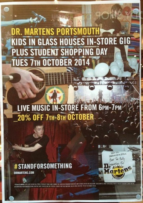 dr. martens kids in glass houses performance
