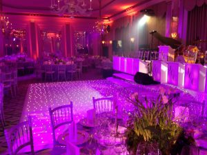 Gary williams claridges stage dancefloor pa uplighters
