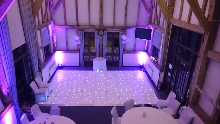 LED dancefloor and uplighter hire at warnham barn horsham west sussex
