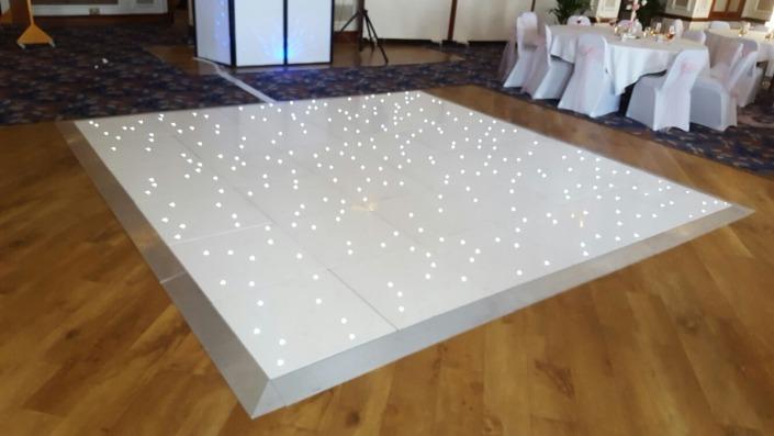white led dancefloor hire at royal beach hotel southsea