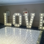 LOVE and 12ft Dancefloor at Solent Spa Hotel