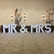 mr mrs light up love letters at hilton ageas bowl