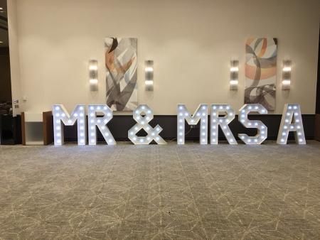 mr mrs light up love letters at hilton ageas bowl