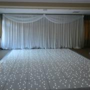 Brookfields Hotel White LED Dancefloor backdrop winter wonderland