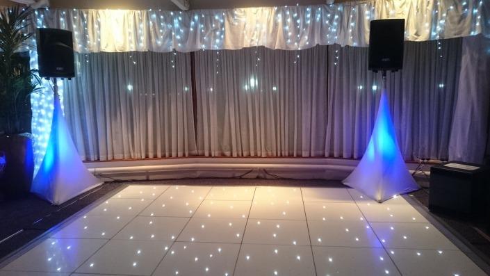 Langstone Hotel Spinnaker Suite White LED Dancefloor