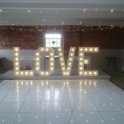 sopley mill dancefloor white led 4ft love