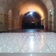 white led dancefloor at explosion museum gosport