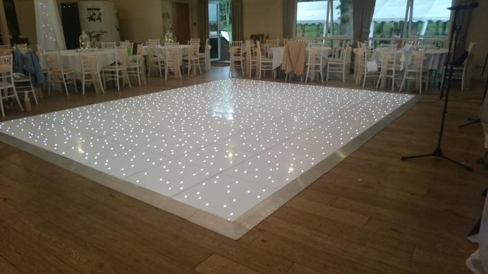 white led dancefloor at marwell hotel