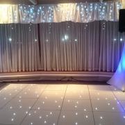 white led dancefloor at spinakker suite langstone hotel hayling island