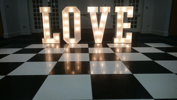 black and white dancefloor botley grange hotel and spa