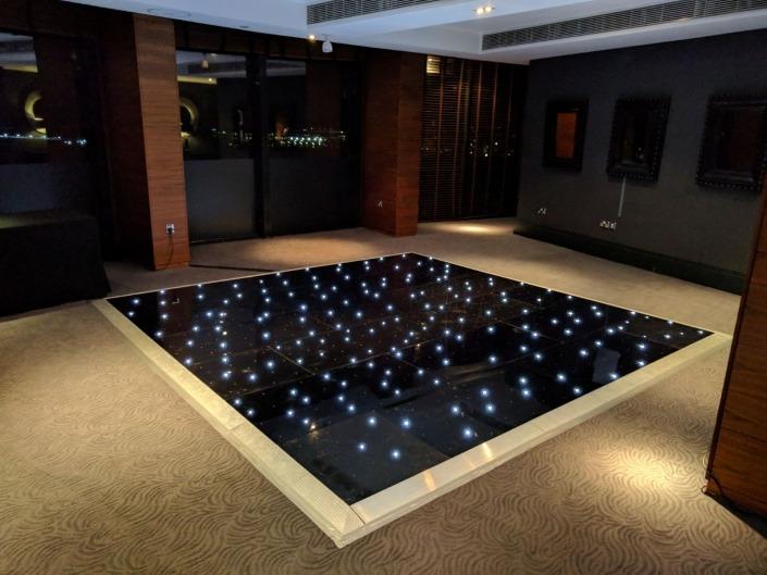 aviator hotel farnborough black led dancefloor
