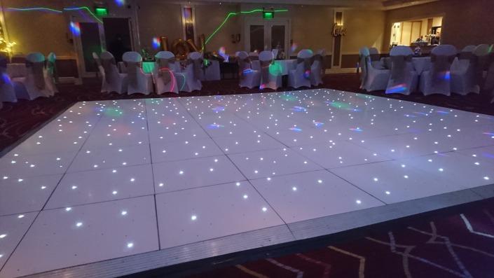 white led dancefloor at the portsmouth marriott hotel