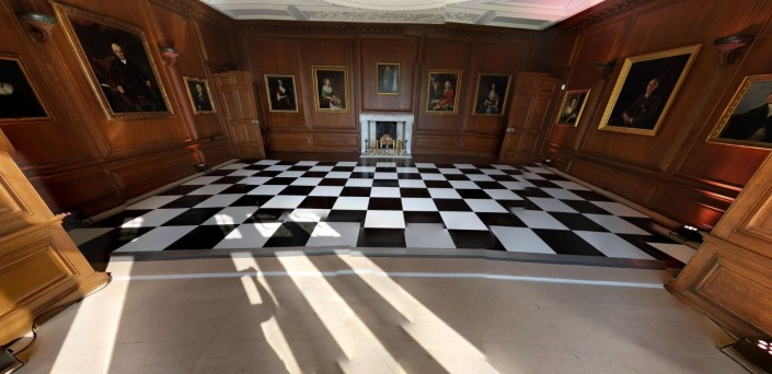 cowdray house black and white chequered dancefloor