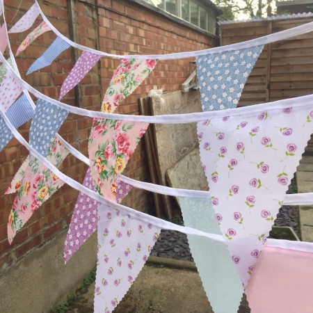 single sided bunting floral design
