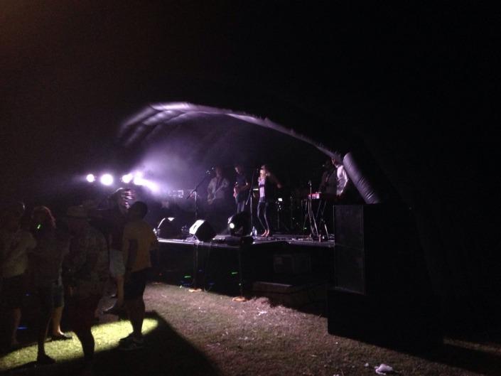 10m outdoor stage dark photo