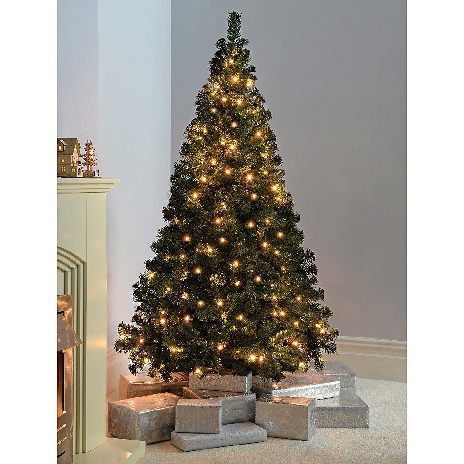 Pre Lit Led Lights Christmas Tree: 7ft 400 LED Artificial Christmas Tree Warm White Pre-Lit
