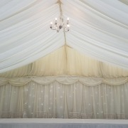 9m marquee backdrop twinkle behind linings