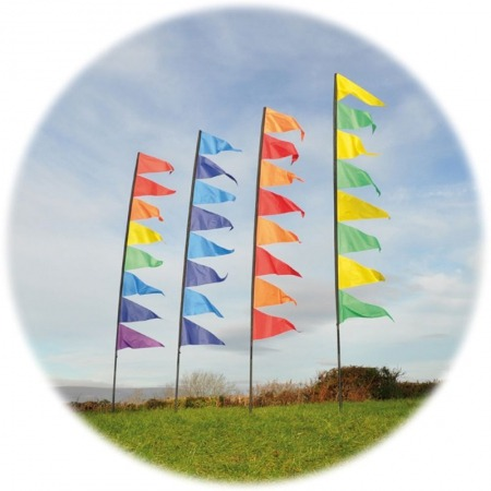 pendant banner flag kit with pole 11104 2 p