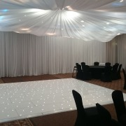 16ft White LED Dancefloor Norton Park Winchester