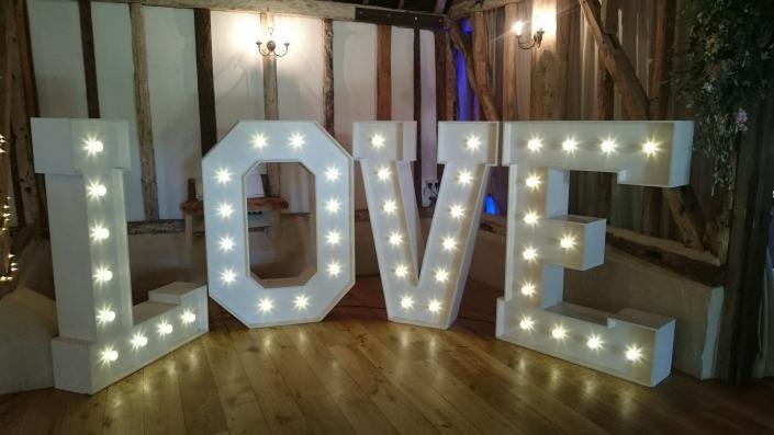 5ft LOVE at Clock Barn Tufton Warren