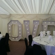 Balmer Lawn Hotel 5ft LOVE letters