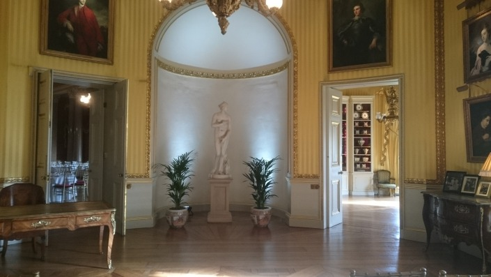 white uplighters goodwood house