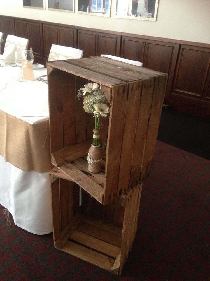 Rustic / Vintage Wooden Apple Crate – Lizard Events Ltd