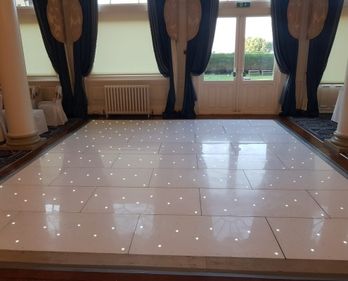 queens hotel southsea white led dancefloor