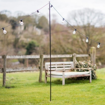 outdoor lighting festoon bunting pole stand