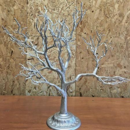 60cm Silver Glitter Tree